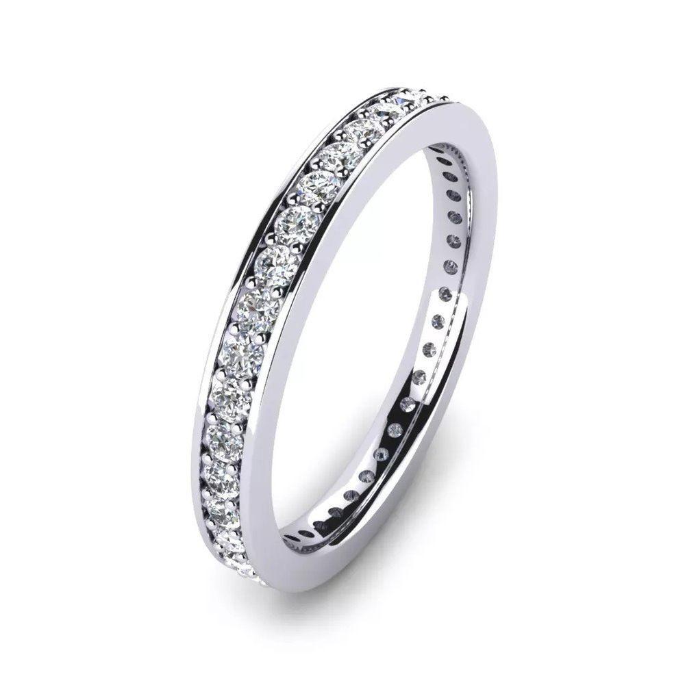 IGI 060Ct Round Diamond Full Eternity Wedding Engagement Ring in