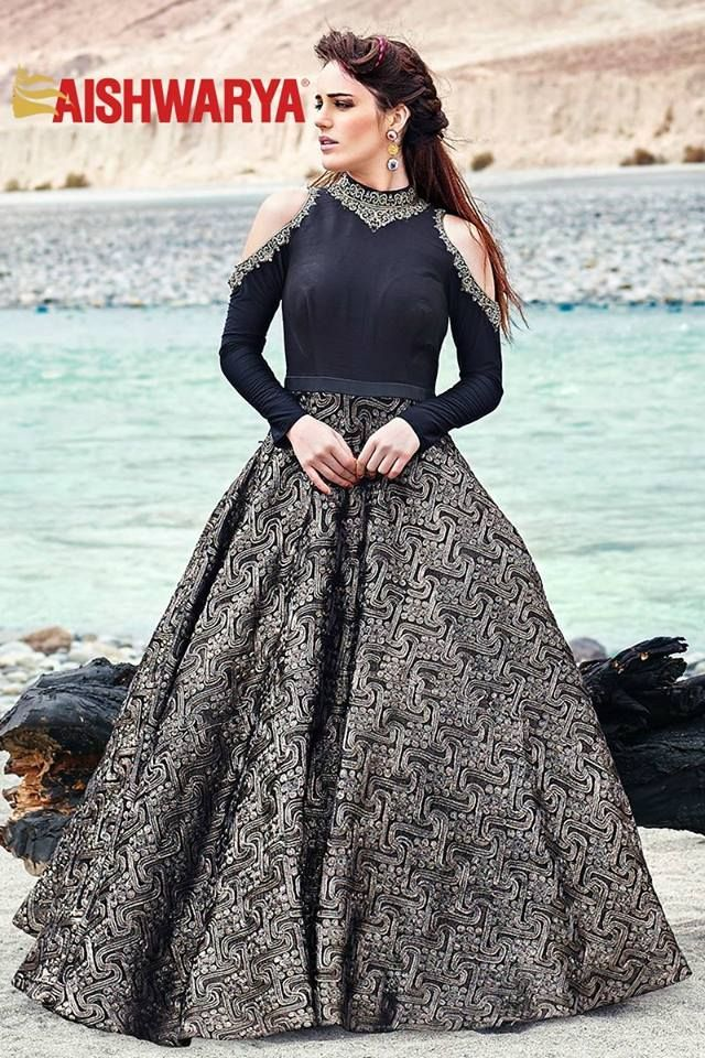 2846dcdad4 Explore the new and unique collection Exclusively only at Kenzo. Ooze a  classy appeal in this majestic black floor length  gown ...