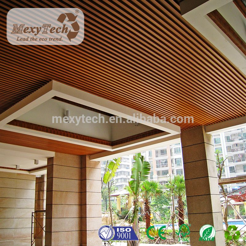 New Design Wpc Material Indoor Composite Wood Ceiling
