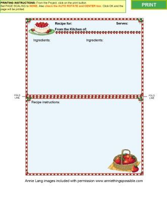 Cooking Collection 2 - Recipe card templates for MS Word Kitchen