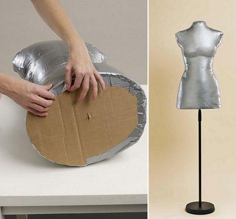 Hacer maniqui casero ropa carton ideas pinterest for Muebles de costura