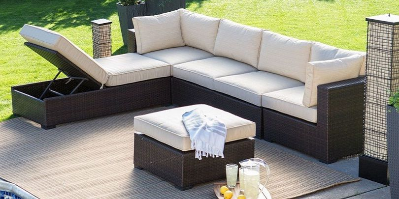 Reddington Outdoor Wicker Sectional Seating Sofa Set With Cushions Outdoor Outdoorsofa Wicker Sofa Outdoor Outdoor Furniture Design Couch Design