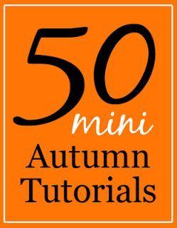 50 Miniature Halloween and Fall Tutorials