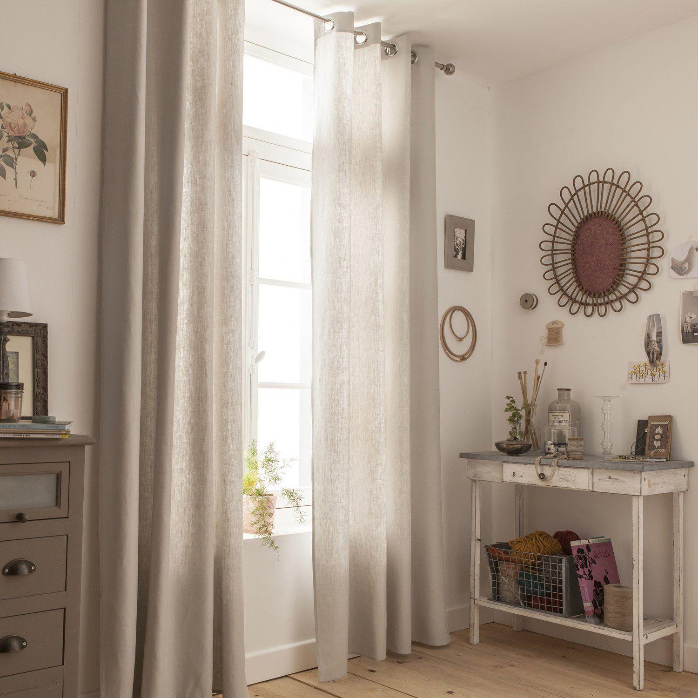 rideaux lin naturel amazing ce dressing ralis en. Black Bedroom Furniture Sets. Home Design Ideas