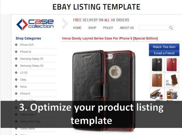 Optimize your product listing template | eBay Store Design | Pinterest