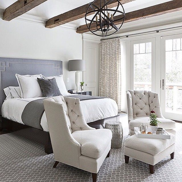 25 Stunning Transitional Bedroom Design Ideas: Beams In The Bedroom? Yes...yes, Please. Loving Every Bit
