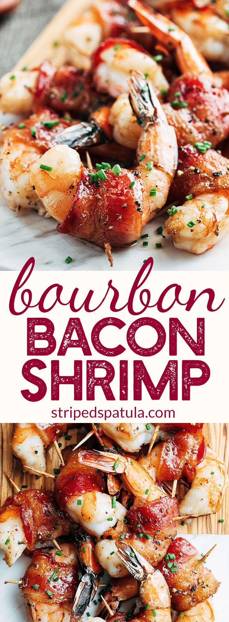 Photo of Bacon Wrapped Shrimp with Brown Sugar Bourbon Glaze
