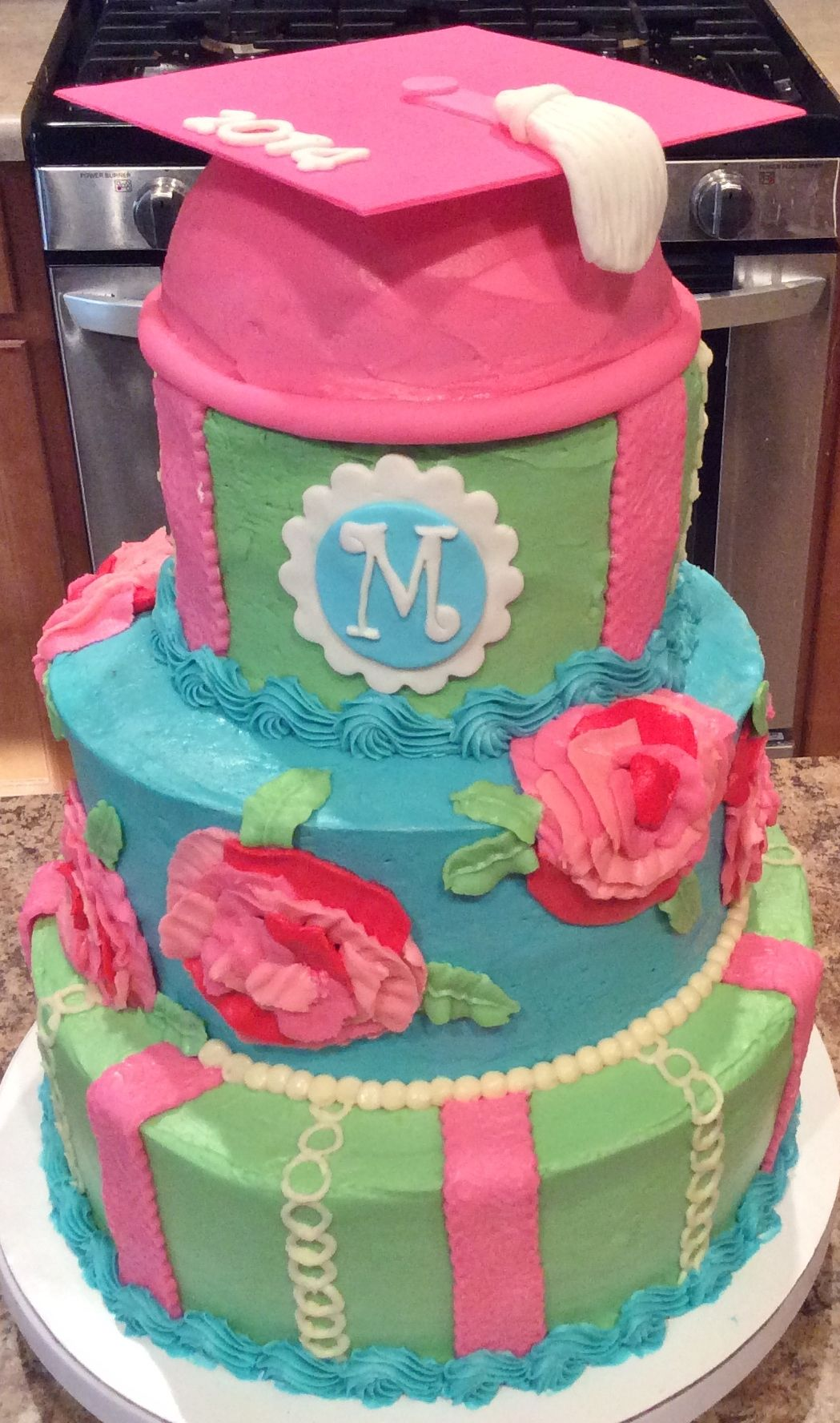 Lilly Pulitzer Fashion Themed Graduation Cake Lilly Pulitzer