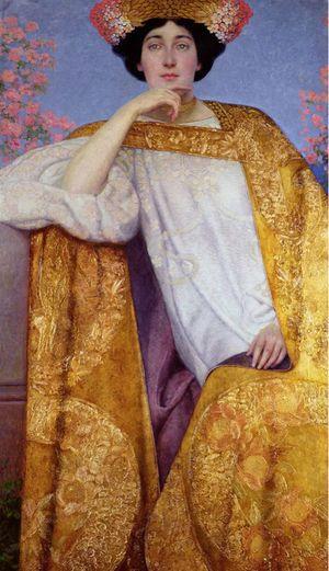 Portrait of a Woman in a Golden Dress, Gustav Klimt