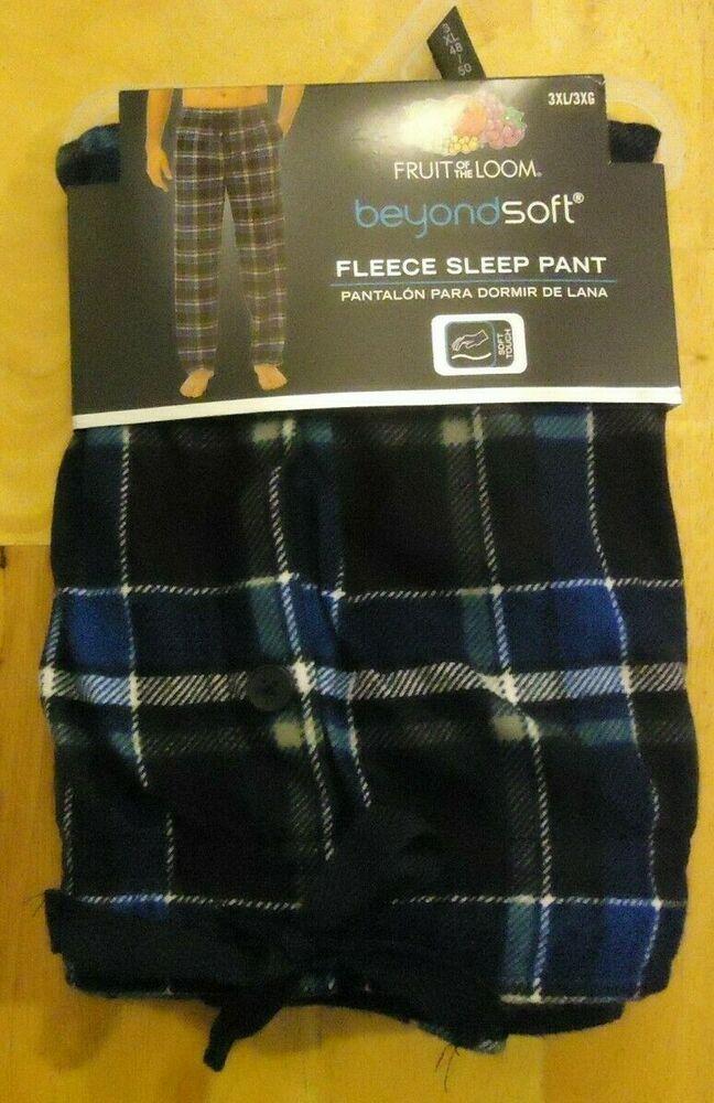 5a35905aad3 Big Men s Fruit of the Loom Beyond Soft Fleece Pajama Sleep Pants Size 3XL  48-50  FruitoftheLoom  LoungePants