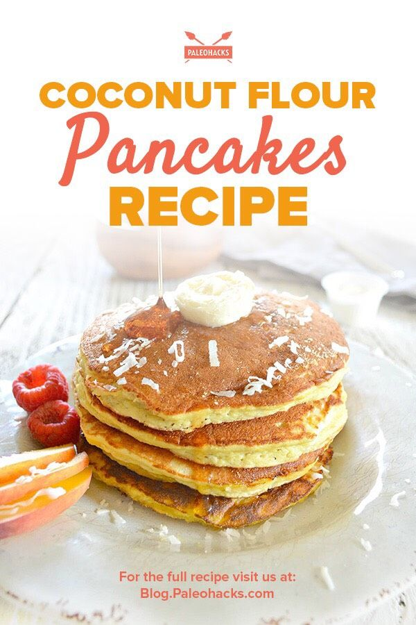 These Light And Fluffy Pancakes Are Simple And Sweet Coconut Flour Pancakes Recipes Coconut Flour Recipes