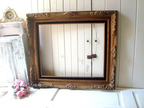 Gold Vintage Ornate Frame, 20 x 24 Open Frame, Large Wedding Frame ...