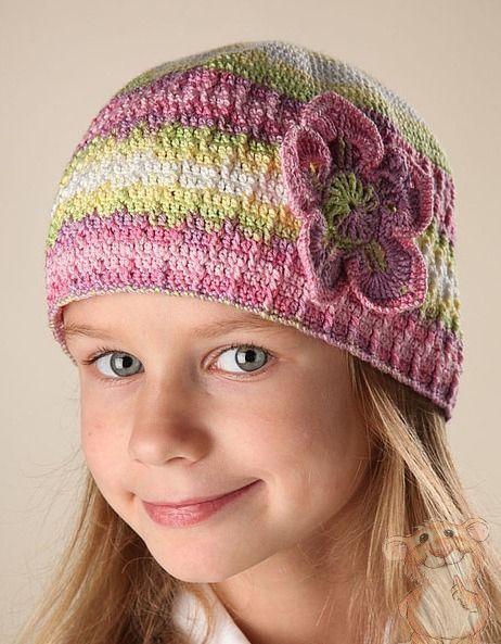 детская шапочка с цветком   kids fashion   Pinterest   Babysachen ...