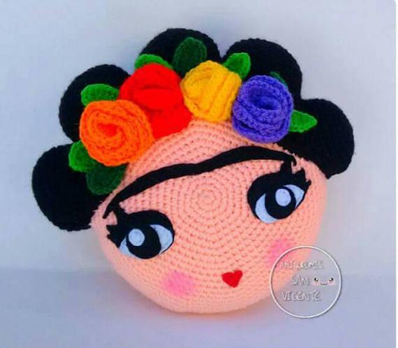 Patrón cojín Frida amigurumi   Educar   Pinterest   Frida, Patrones ...