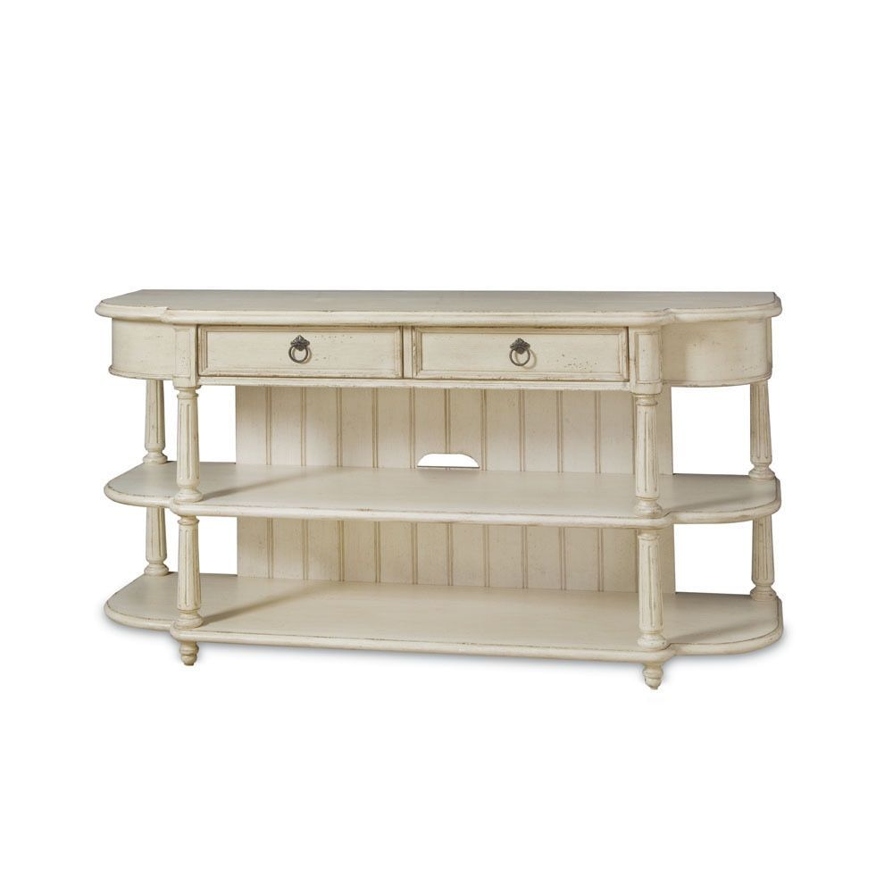 A R T Furniture Provenance Weathered Cream Wood Entertainment Console Table Provenance Entertainment Console Table Beige Furniture Goods Home Furnishings Console Table Styling