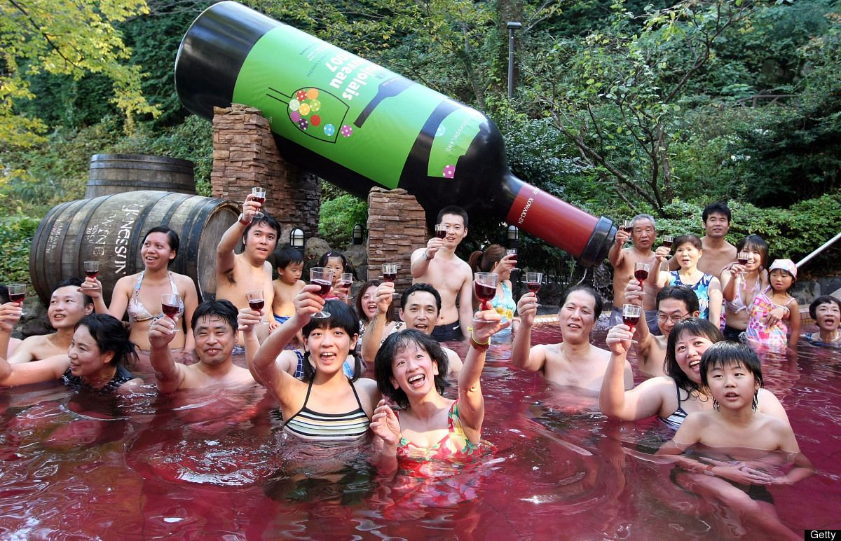 You Won T Believe The Baths You Can Take At This Japanese Spa Japanese Spa Japanese Wine Spa