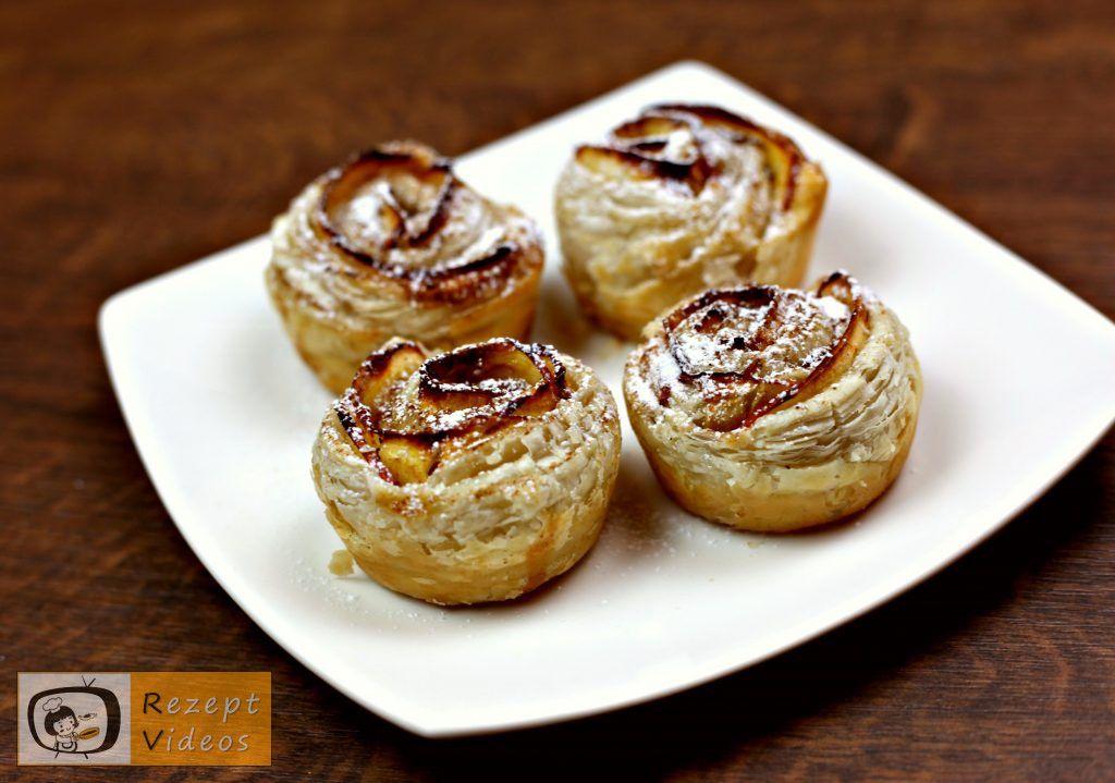 Apfelrosen Rezept mit Video - Kuchenrezept/ Backrezepte/ Apfelkuchen