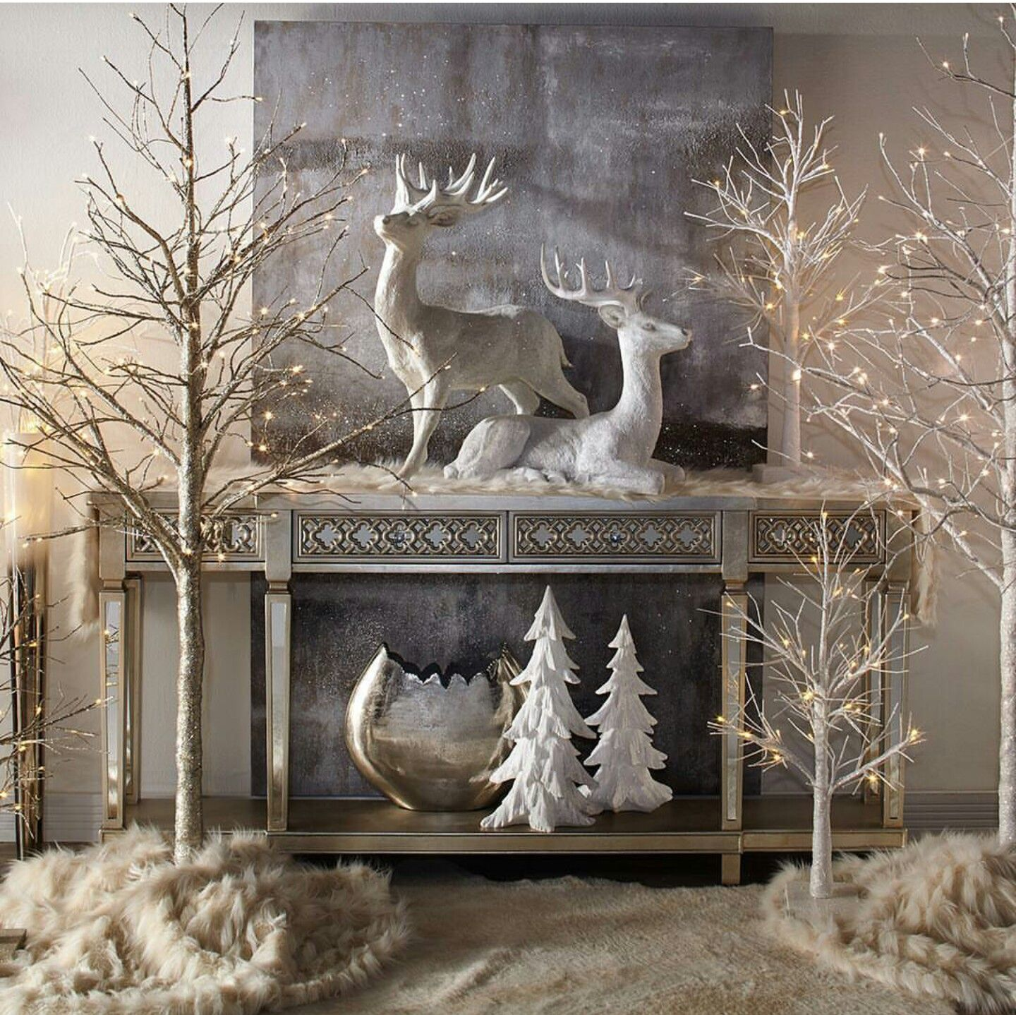 Elegant And Neutral Christmas Foyer: Pin By Vesna Petrovski Galovska On Christmas Ideas