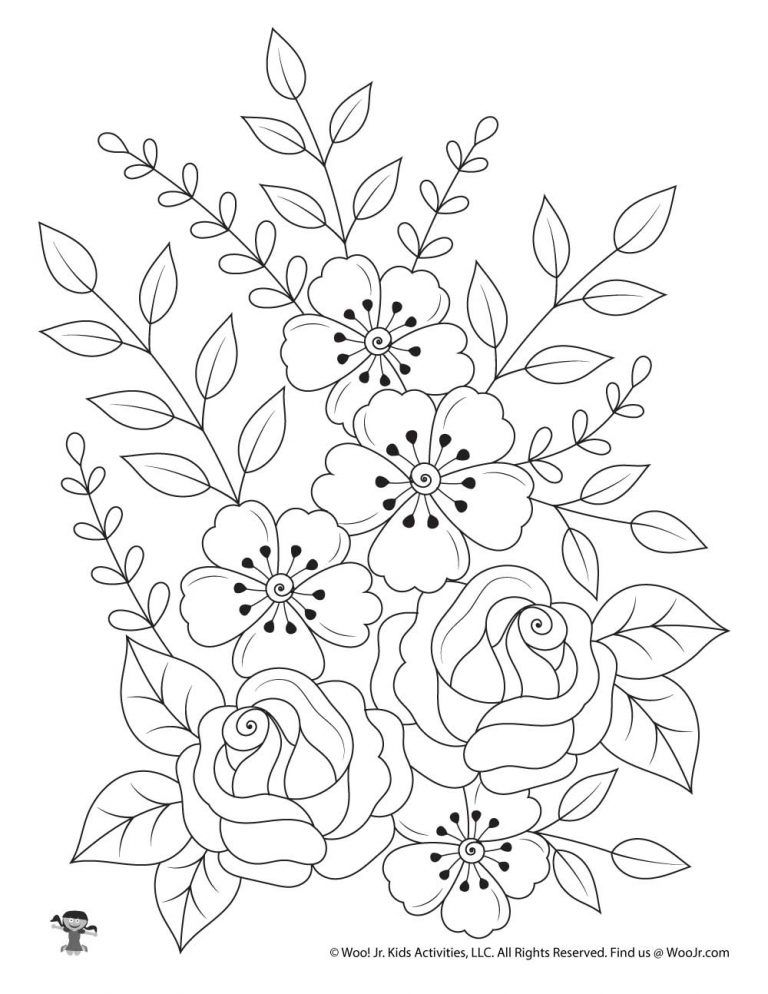 Gallery Flowers Nature Adult Coloring Page   Woo Jr. Kids Activities is free HD wallpaper.