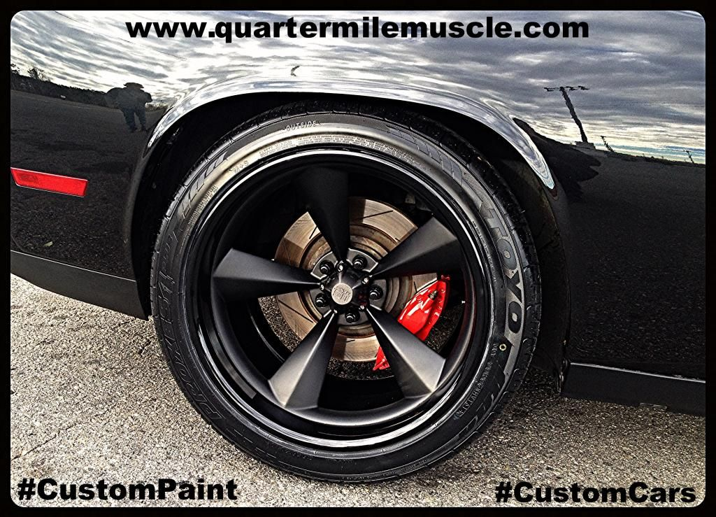 Custom wide body challenger project by quarter mile muscle