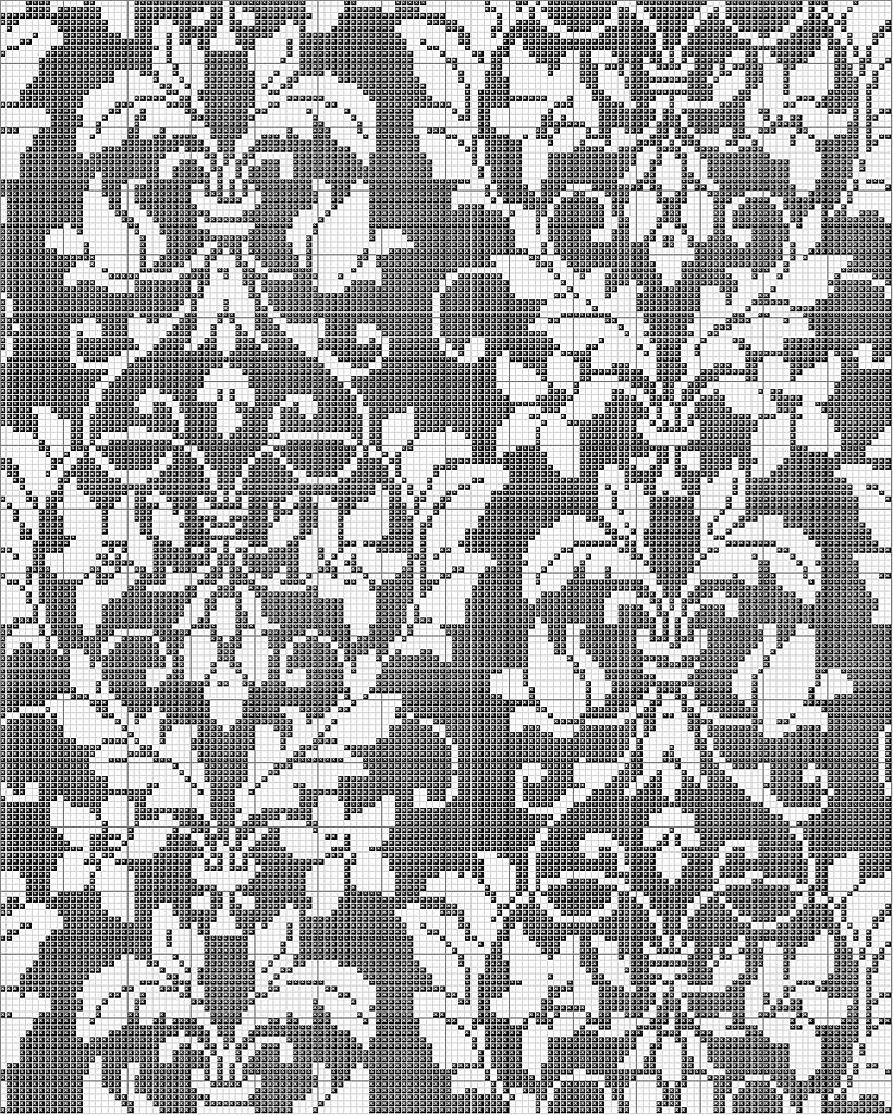 Damask Cross Stitch Pattern | Pinterest | Kreuzstich, Stricken und ...