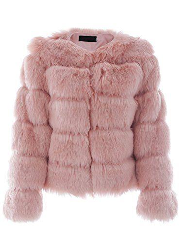 77badc951cc856 Simplee Apparel Femme Manteau Fausse Fourrure Femme Veste Hiver Automne  Fluffy Blouson Chaud élégant Douche Jacket Outwear   Manteau femme fourrure  ...