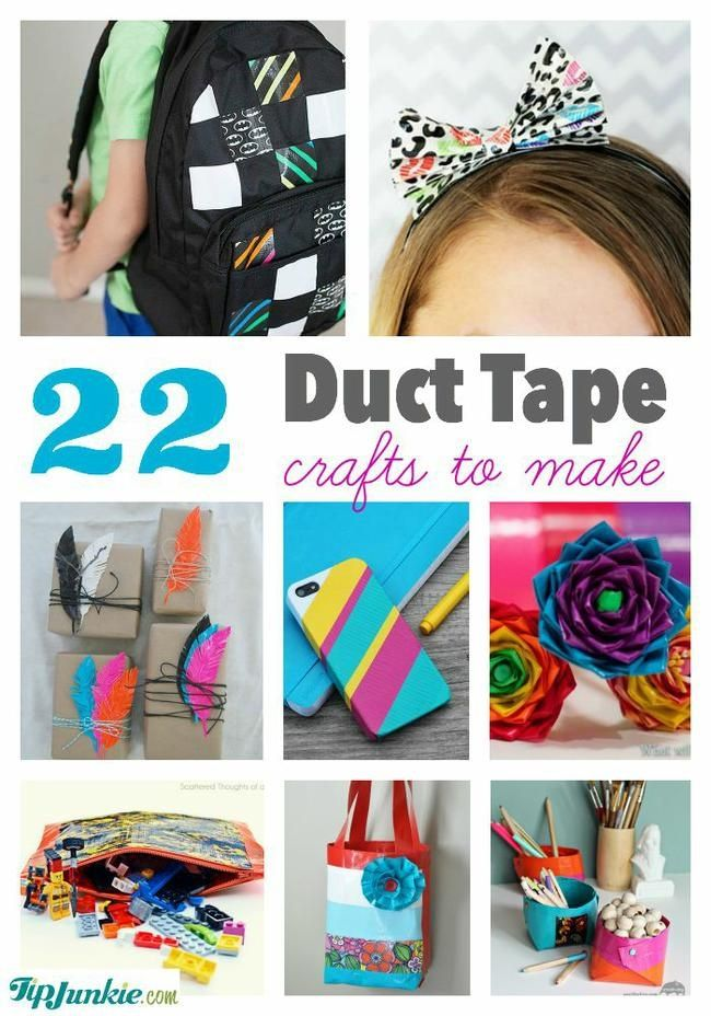 Duct Tape Craft Ideas For Kids Part - 15: 22 Best Duct Tape Crafts To Make - Tip Junkie