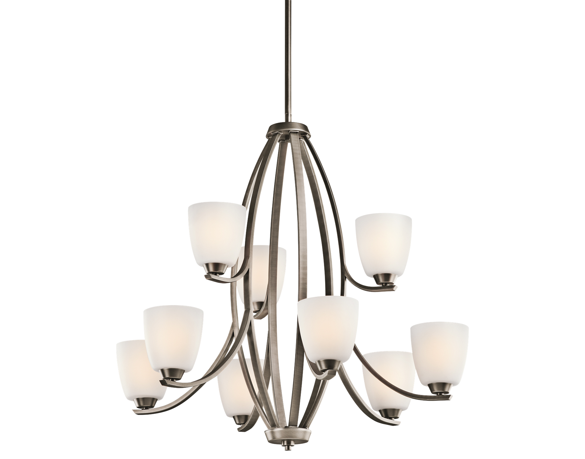 Group 6 Granby Collection 2 Story Foyer Chandelier in Brushed