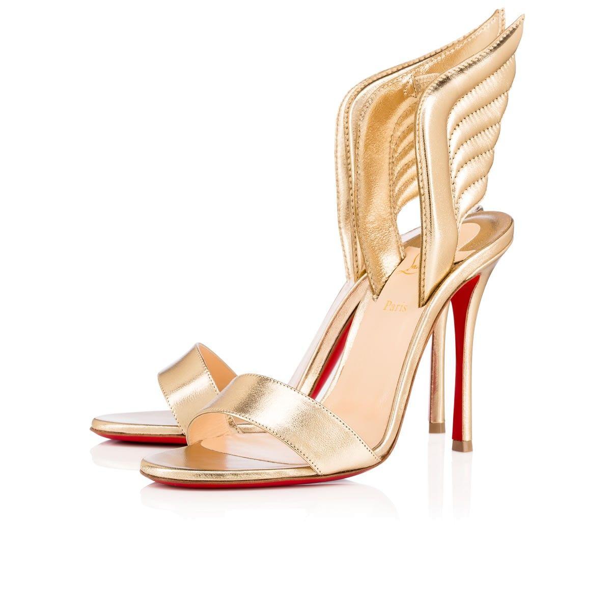 Samotresse 100 Light Gold Nappa - Women Shoes - Christian Louboutin