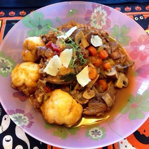 Heather's Helpings: Beef Shank Stew with Parmesan Dumplings and Ice Cream Pie