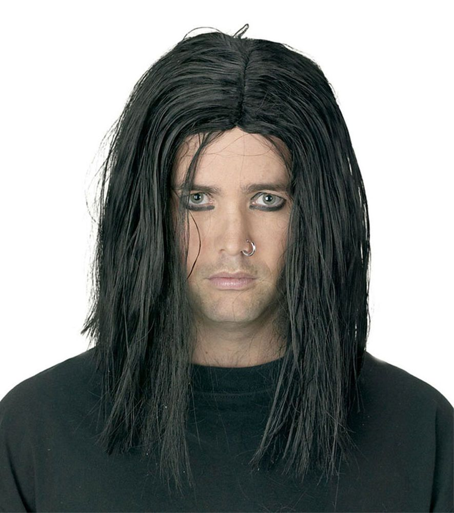 Gothic Long Black Sinister Wig Punk Grunge Rock Halloween Costume Accessory Men Wwwhorror Halloween Costume Accessories Costume Accessories Halloween Costumes