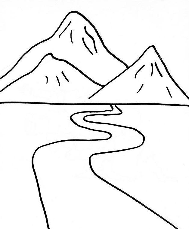 Mewarnai Gambar Pemandangan Gunung : mewarnai, gambar, pemandangan, gunung, Mewarnai, Gambar, Pemandangan, Jalan, Gunung