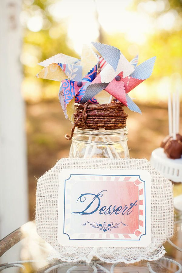 Pinwheels &  sweets table markers
