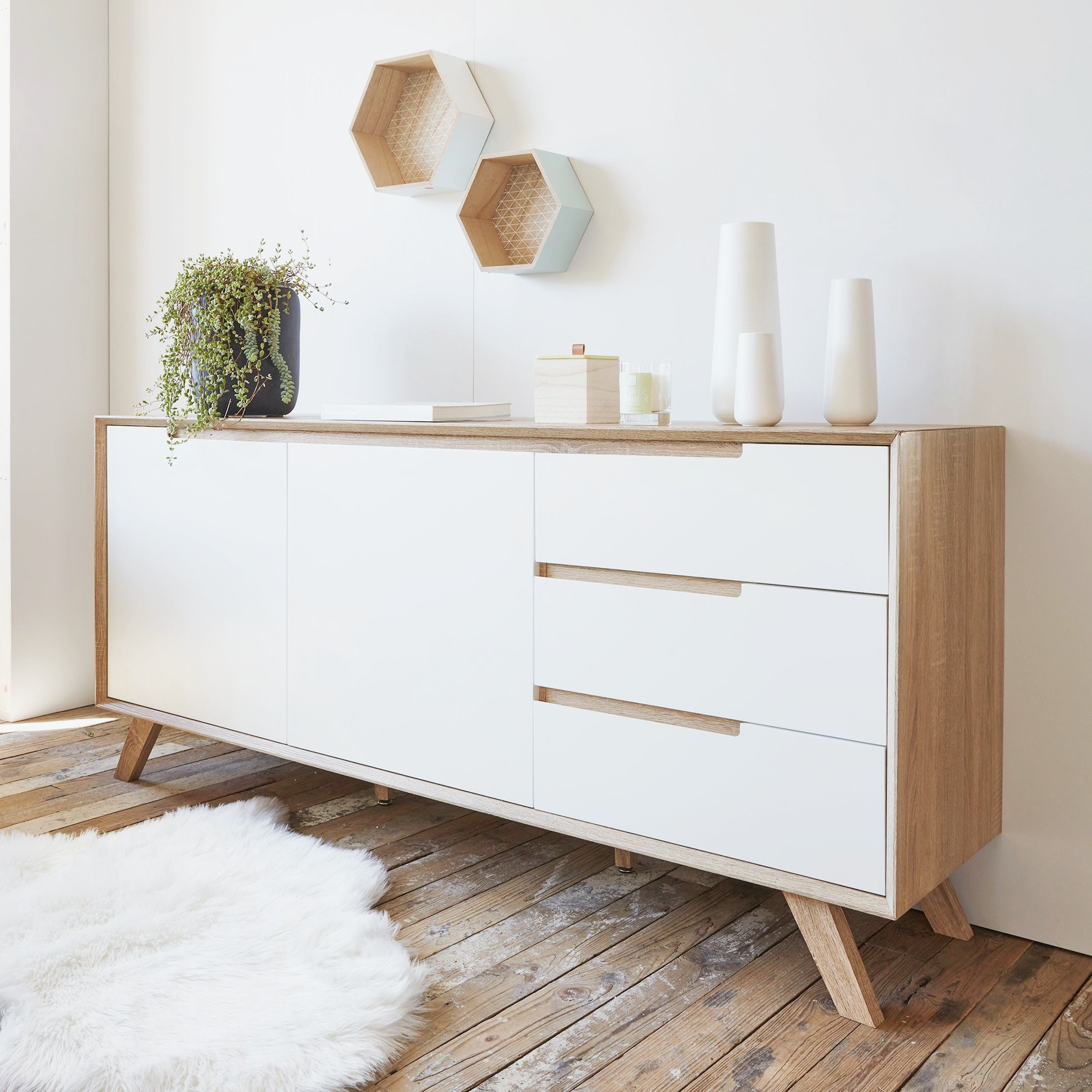 New Meuble Salon Blanc Scandinave