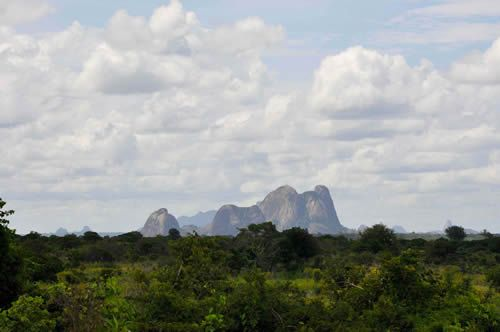 Outside of Nampula, Mozambique.  I remember flying in and seeing the distant hills surrounding us like a set of broken teeth.