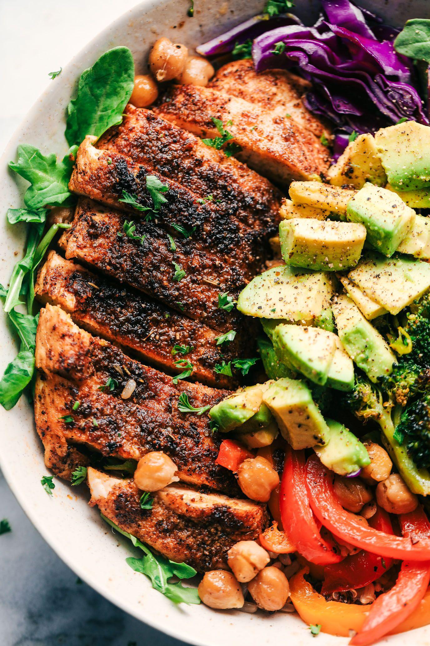 Blackened Chicken Avocado Power Bowls | The Recipe Critic