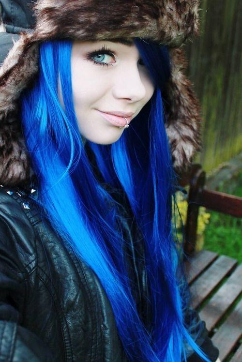 Blue Hair Hair Pinterest Scene Hair Scene And Blue Hair