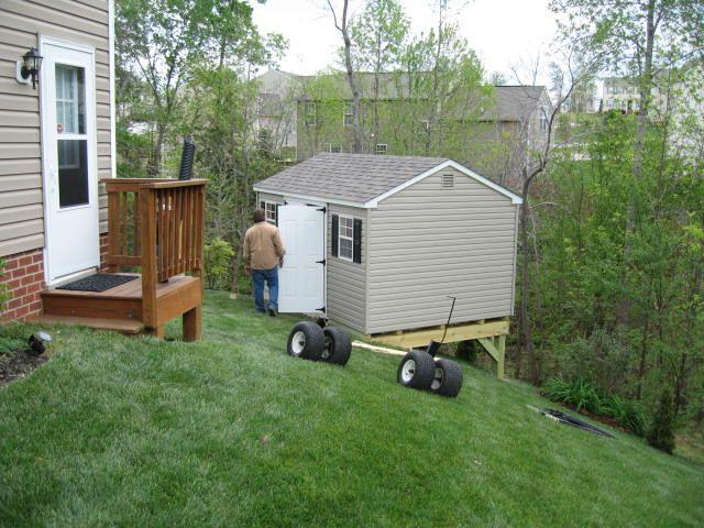Building A Shed On A Big Slope Shed Building A Shed Backyard Sheds