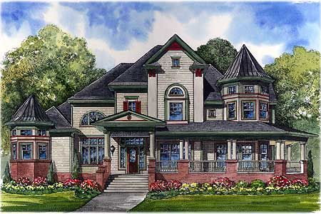 plan w67088gl victorian luxury country house plans home designs - Victorian House Design