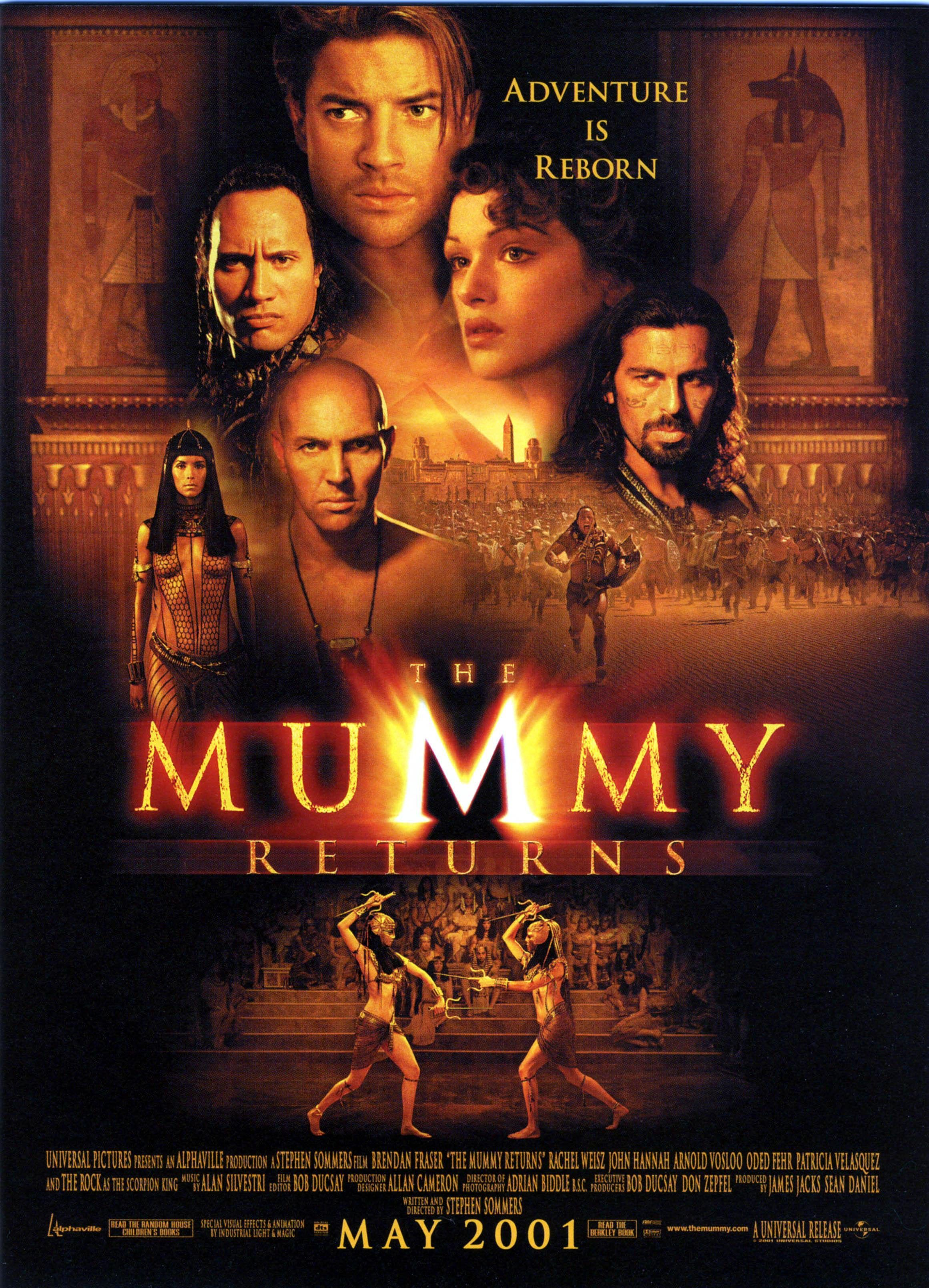 Cartel Estados Unidos De The Mummy Returns (El Regreso De