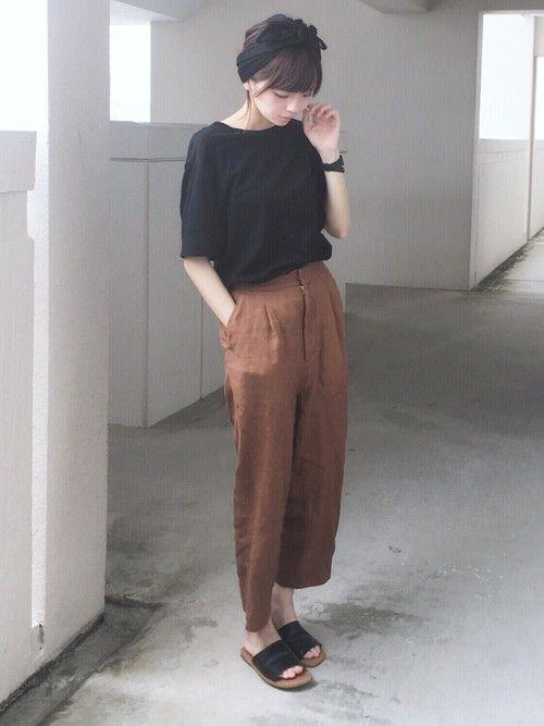 浅倉 まい ヘアバンドを使ったコーディネート ファッション 日本の