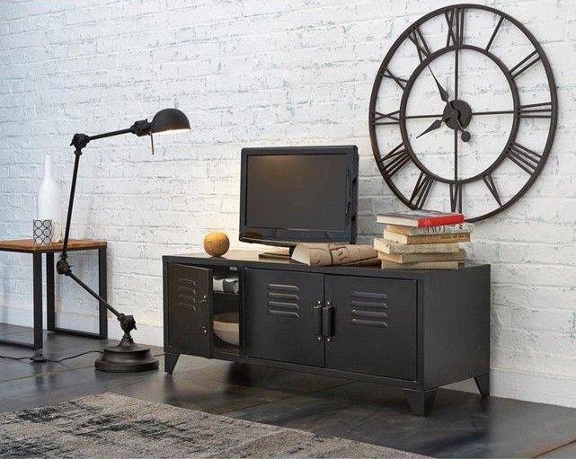 meuble tv d co industrielle chic de chez la redoute. Black Bedroom Furniture Sets. Home Design Ideas