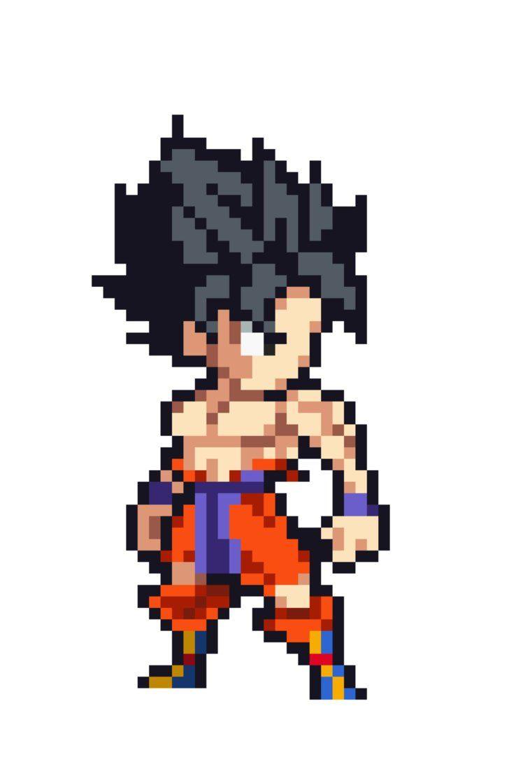 Goku New Transformation Poster Lsw By Antomthetimetravel Arte Pixel Desenho Quadriculado Arte Em Pixels
