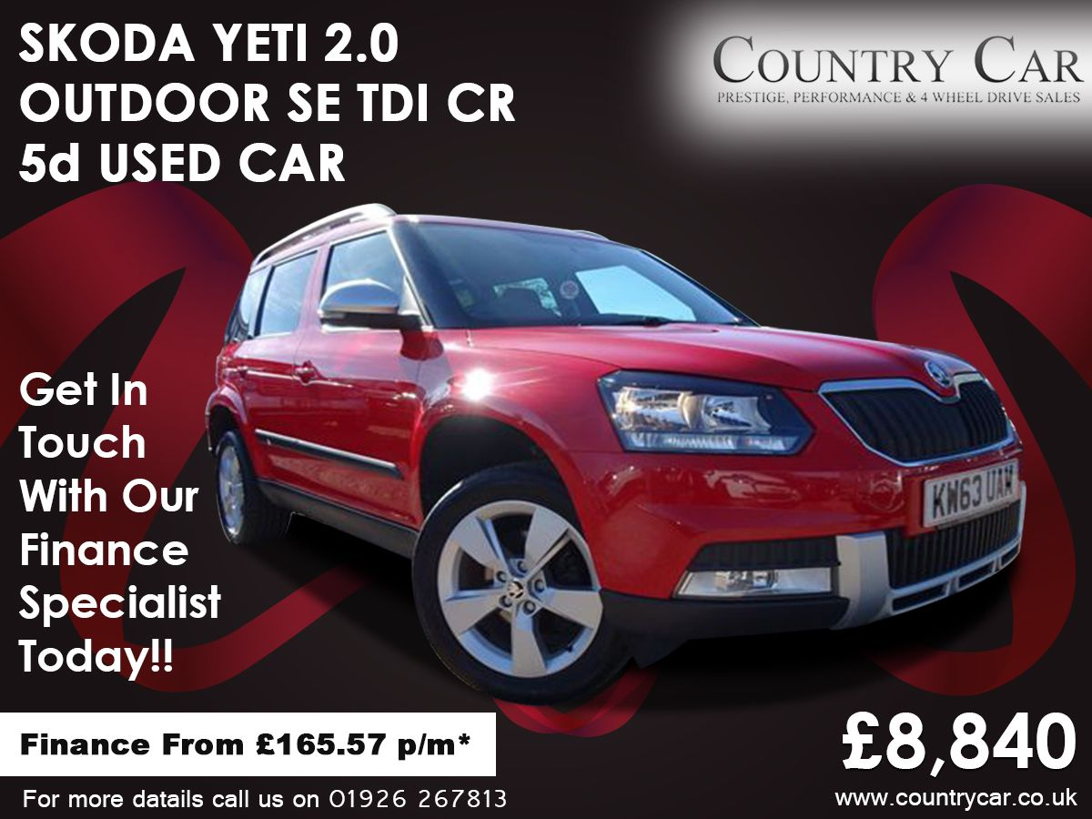 Skoda Yeti 2 0 Outdoor Laurin And Klement Tdi Dsg Scr 5dr Semi