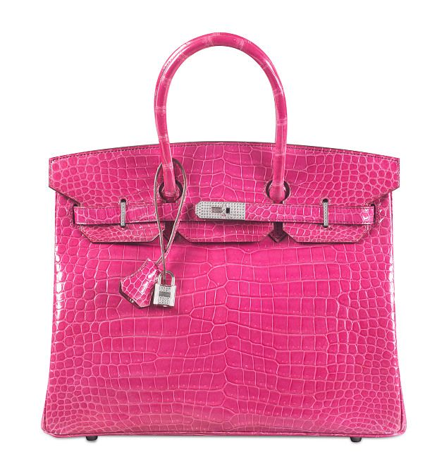 5838a16df14 New record...sold for 200 000 € Hermes birkin pink crocodile with diamonds