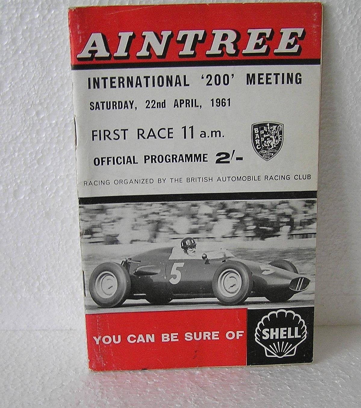 Aintree International 200 Motor Race Meeting Saturday April 22th 1961 Program By Lakedistrictephemera On Etsy Racing How To Memorize Things International