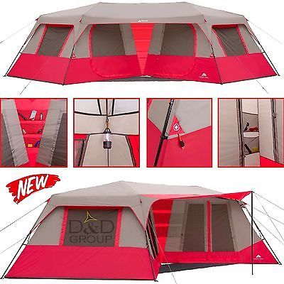 Photo of Ozark 10 Person Instant Camping Cabin Tent Do…