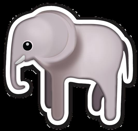 Elephant Emojis Dibujos Dibujos De Animales Emojis
