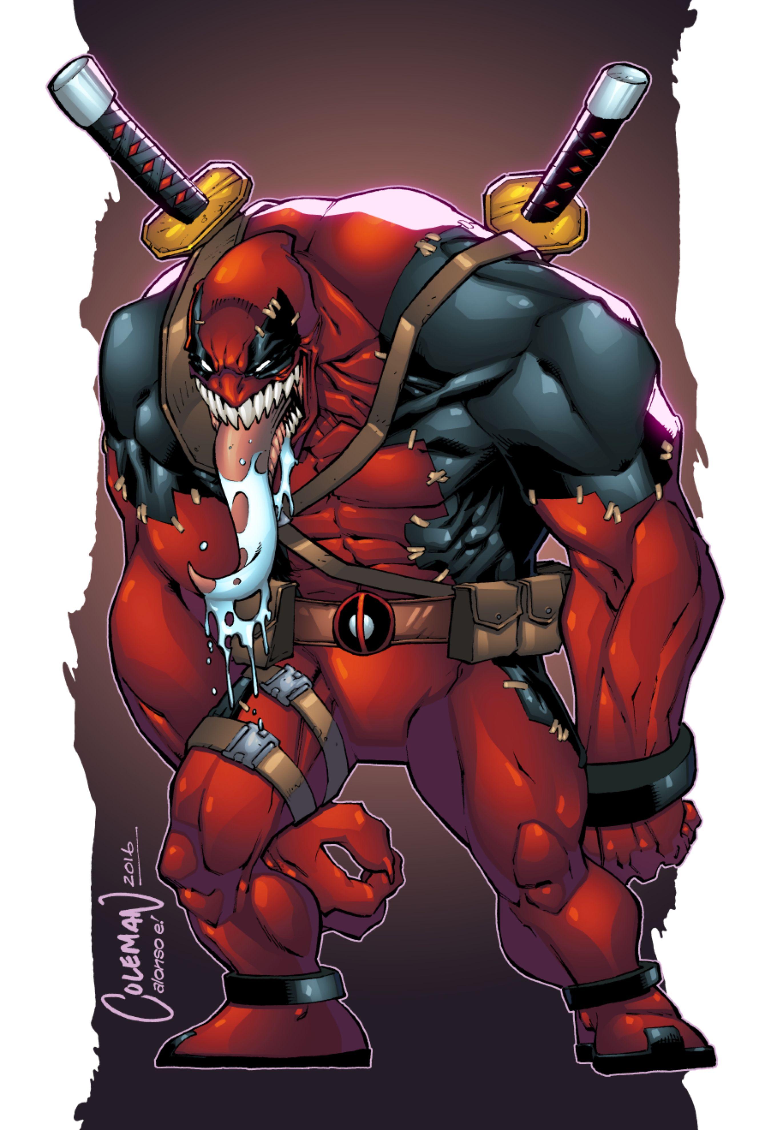 Venompool Marvel Comic Universe Deadpool Art Marvel Deadpool