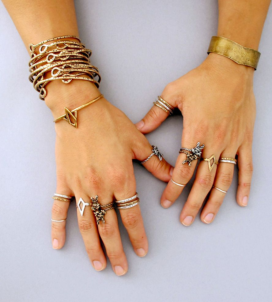 Notched stacking ring jewelry rings laurel hill jewelry